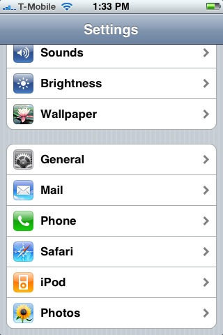 change ip address iphone